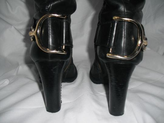 Juicy Couture Horse Bit Leather Tall Black Boots Image 5