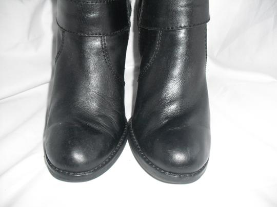 Juicy Couture Horse Bit Leather Tall Black Boots Image 6