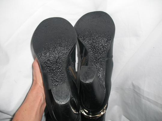 Juicy Couture Horse Bit Leather Tall Black Boots Image 8