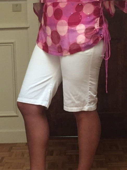 Abercrombie & Fitch Bermuda Shorts White Image 1
