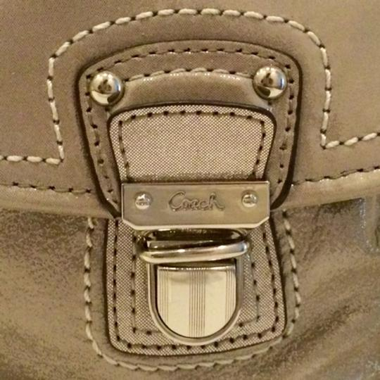 Coach Leather Metallic Cross Body Bag