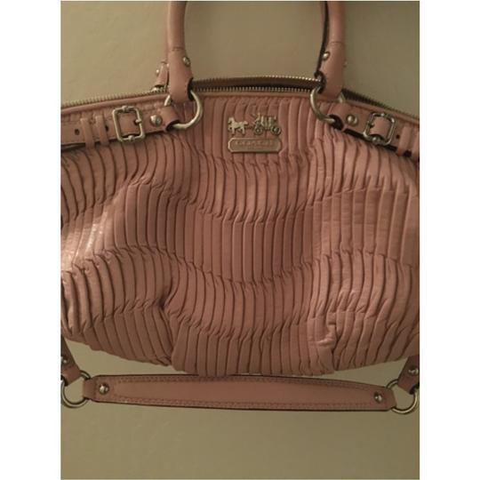 Coach Leather Sophisticated Satchel in Dusty Pink