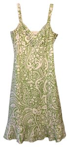 Ann Taylor short dress Green and off White on Tradesy
