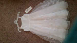Flower Girl Dress And Wreath Size 5