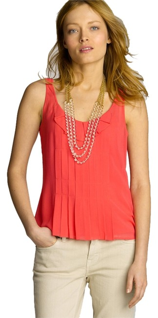 Preload https://item3.tradesy.com/images/jcrew-pink-tea-rose-georgette-pleated-tank-topcami-size-0-xs-5125837-0-0.jpg?width=400&height=650
