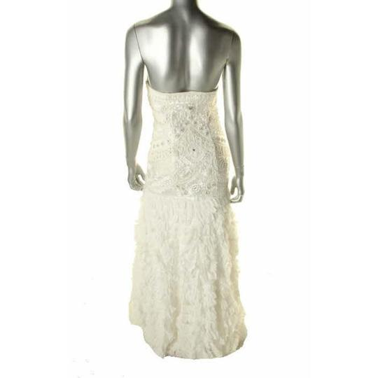 Sue Wong Ivory Nylon/Polyester Gown Modern Dress Size 6 (S)