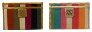 Coach Julia Legacy Stripe Satin Card Cases