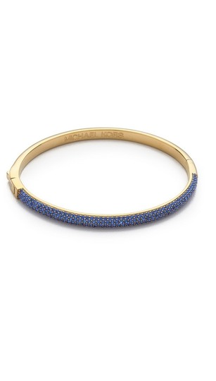 Michael Kors contact me for 10% off-LAST Gold Tone Sapphire Camille Hinged Bracelet Image 2