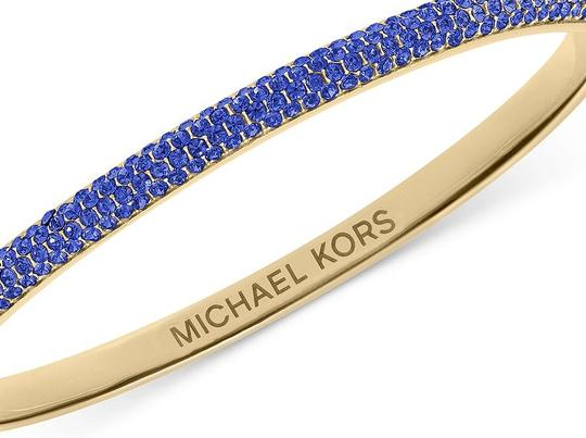 Michael Kors contact me for 10% off-LAST Gold Tone Sapphire Camille Hinged Bracelet Image 4