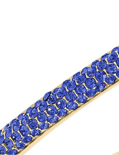Michael Kors contact me for 10% off-LAST Gold Tone Sapphire Camille Hinged Bracelet Image 5