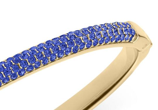 Michael Kors contact me for 10% off-LAST Gold Tone Sapphire Camille Hinged Bracelet Image 6