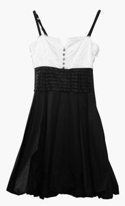 BCBGMAXAZRIA Feathers Tuxedo Dress