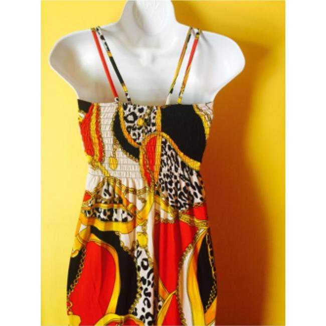 Red, black, yellow Maxi Dress by Other