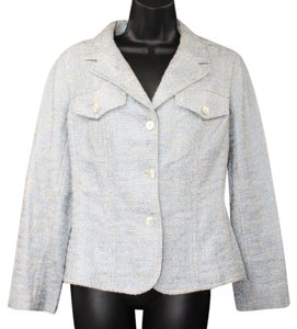 Other Metallic Light Blue Woven Jacket Blazer