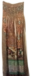 Brown Tan Multi Maxi Dress by Lapis