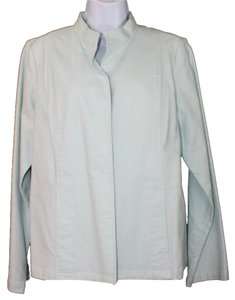 Eileen Fisher Light Blue Cotton Stretch Blazer