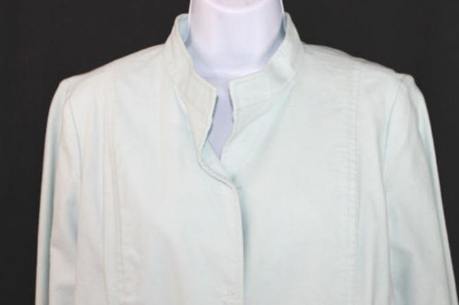 Eileen Fisher Light Blue Cotton Stretch Blazer Image 1