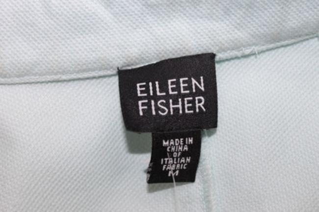 Eileen Fisher Light Blue Cotton Stretch Blazer Image 2