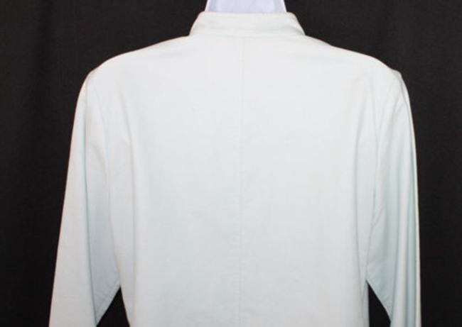 Eileen Fisher Light Blue Cotton Stretch Blazer Image 3
