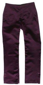 Rebecca Taylor Embellished Straight Pants Purple