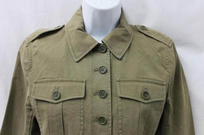 Theory Military Inspired Stretch Cotton Fatigue Jacket Blazer Image 1