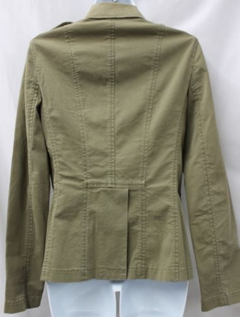 Theory Military Inspired Stretch Cotton Fatigue Jacket Blazer Image 2