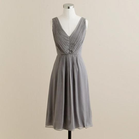 J.Crew Grey Chiffon Louisa In Silk /Size / Color: Grap Feminine Bridesmaid/Mob Dress Size 2 (XS)