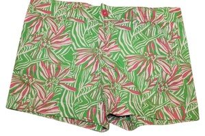 Lilly Pulitzer Shorts GREENS AND PINK S
