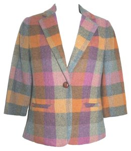 CAbi Plaid Multi-color Wool Blazer