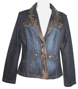 IN PARLE DES VOIS Jean Denim BLUE Womens Jean Jacket