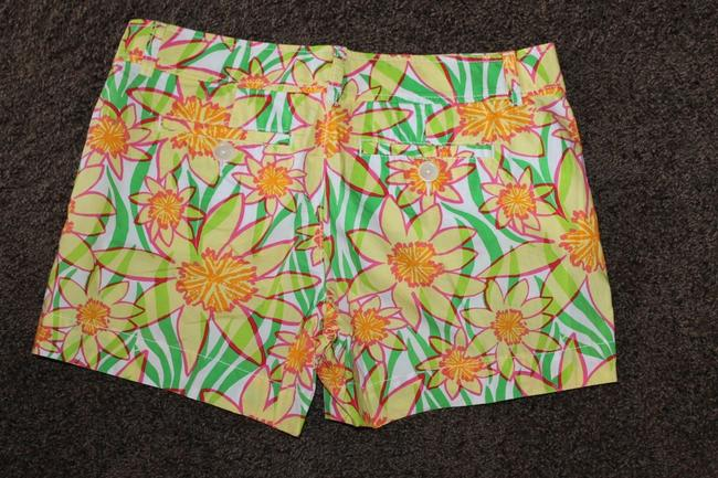 Lilly Pulitzer Dress Shorts BRIGHT YELLOW WHITE PINK GREEN