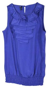 Maurices Tank Sleeveless Ruffle Top purple