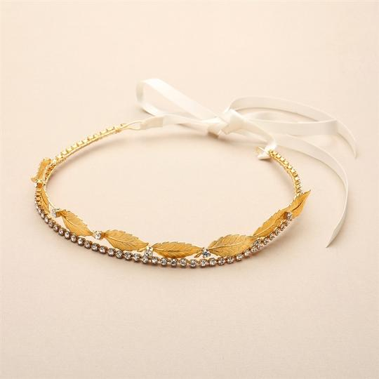 Gold Hand-made Garland Of Leaves Split Headband Crown Hair Accessory