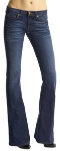 J Brand Denim Blue Skinny Mid Rise Flare Leg Jeans-Medium Wash