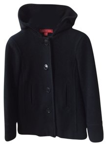 Anne Klein Wool Hooded Coat