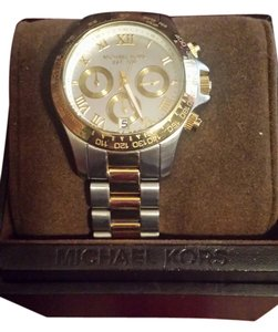 Michael Kors Micheal Kors sterling Silver and Gold Two Tone ladies Watch