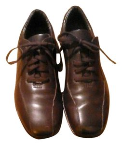 Ermenegildo Zegna Leather Brown Flats