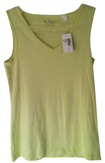 Preload https://item3.tradesy.com/images/chico-s-tank-top-lime-5129677-0-0.jpg?width=400&height=650