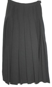 Guy Laroche Pleated 36 Maxi Skirt BLACK