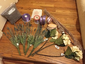 Lavender Grab Bag (buds Ribbon Silk Flowers)