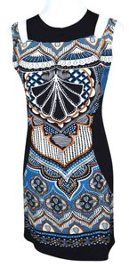 Other Geometric Graphic Print Sheath Papillon Dress