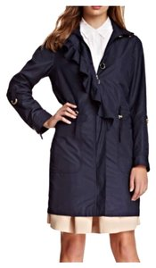 T Tahari Ruffle Rain Wear Raincoat