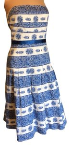 Spenser Jeremy short dress Blue/white on Tradesy
