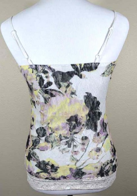 Maurices Lace Trim Camisole Spaghetti Strap Multicolored Floral Top white yellow purple black