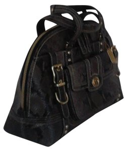 Coach Edition Satchel in Mixed Browns and Black
