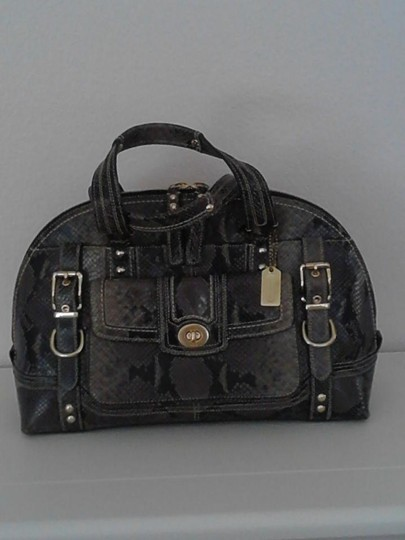 Coach Limited Edition Satchel in Mixed Browns and Black