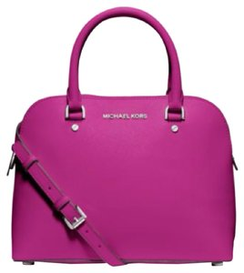 Michael Kors Cindy Dome Satchel in Fuchsia