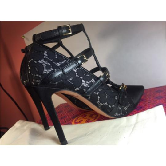 Tory Burch Sutton Heels Luxury Strappy Black Pumps
