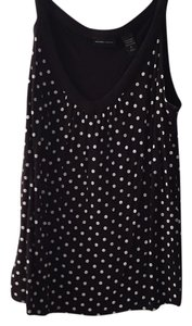 New York & Company Top Black-and-white polkadot