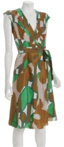 Diane von Furstenberg short dress Multi-color, green, pink and tan on Tradesy
